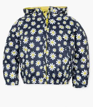 All-over daisy motif jacket.