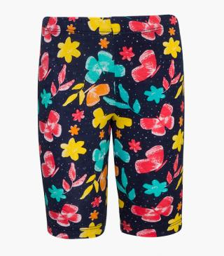 All-over flower and butterfly print leggings.