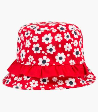All-over floral print hat.