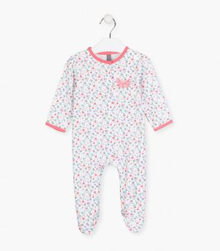 Floral sleepsuit in white.