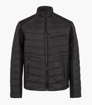 This jacket features a zip pocket on the chest.