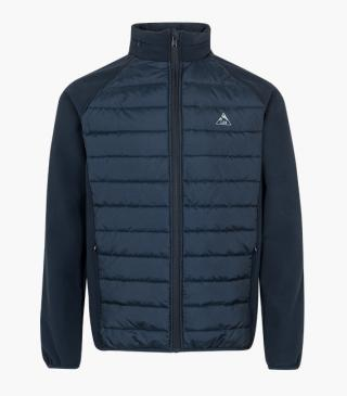 Quilted jacket with hidden hood.