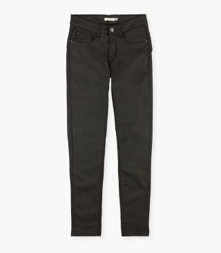 Waxed twill trousers.