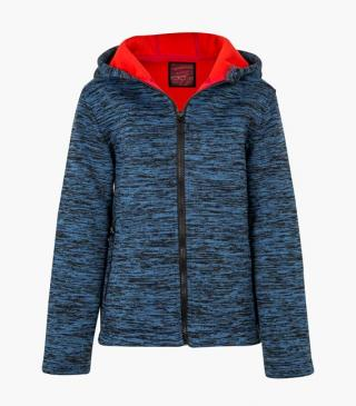 Fleece jacket with zippered pockets.