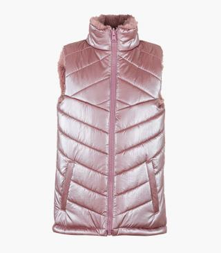 Gilet metallizzato double-face.
