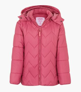 Quilted jacket in pink.