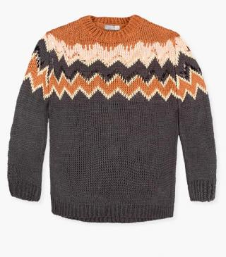 Knit jumper with sequins.
