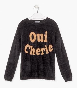 Knit jumper with graphic.