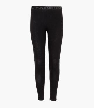 Leggings with printed elasticated waistband.