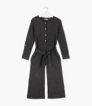 Grey romper in a woollen fabric.