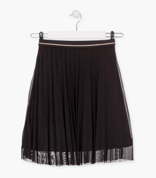 Pleated tulle skirt.