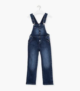 Denim dungaree.