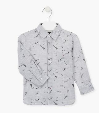 All-over print shirt with chest pocket.