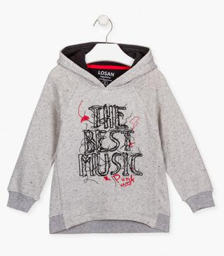 Embroidery and print front sweatshirt.