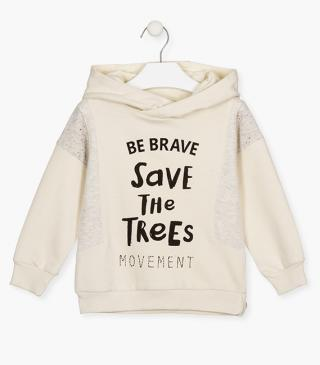 Save the planet graphic sweatshirt.
