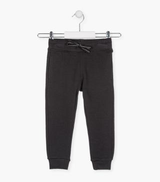 Drawstring waist trousers in plush.