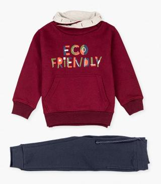 Front graphic sweatshirt and joggers set.