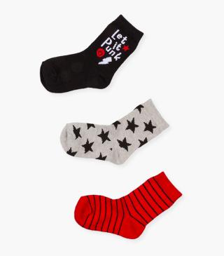 Assorted socks 3-pack.