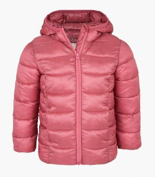 Lightweight quilted jacket with a hood.