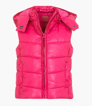 Quilted vest.
