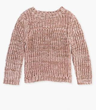 Pink knit jumper.