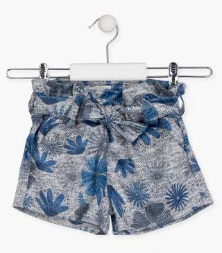 All-over floral motif shorts.
