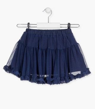 Navy skirt in tulle.