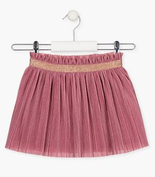 Abstract tulle skirt with pleats.