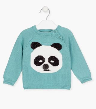 Knit jumper with panda.