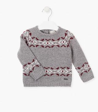 Fabric mix jumper in knit fabric.