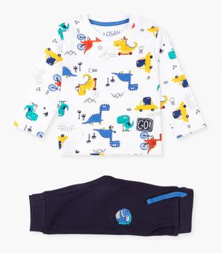 Colourful dinosaur design t-shirt & trousers set.