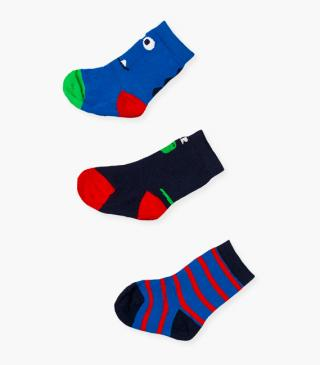 Abstract knit socks 3-pack.