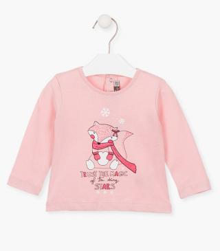 Printed puppy t-shirt with long sleeves.