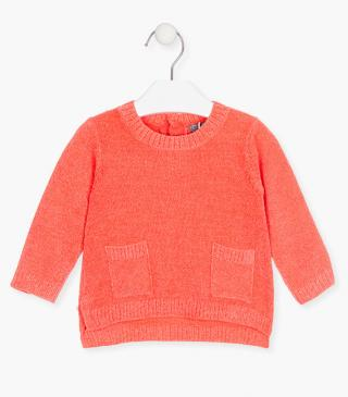 Chenille jumper with pockets.