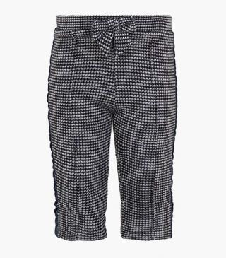 Houndstooth jacquard trousers.