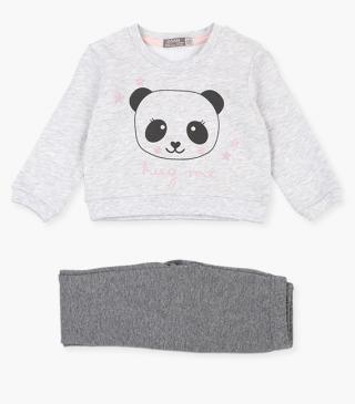 Panda front sweatshirt & leggings set.