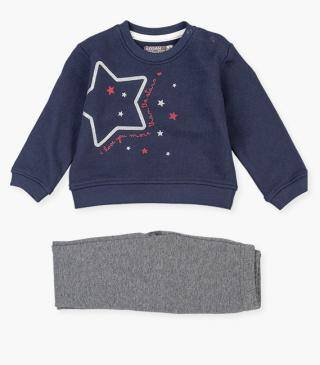 Glittery star motif sweatshirt and leggings set.