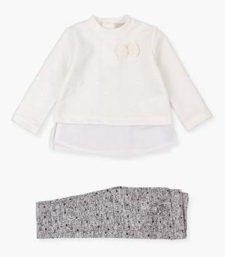 Quilted heart t-shirt & trousers set.