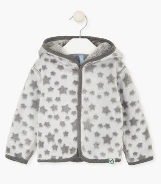 Reversible jacket with stars.
