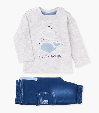 Polar characters t-shirt & trousers set.