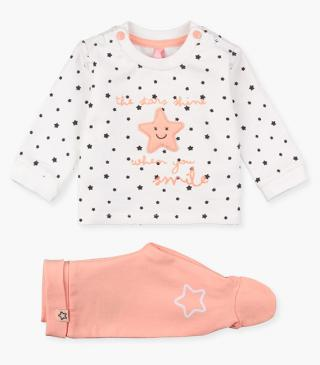 Sweatshirt & leggings set in organic cotton.