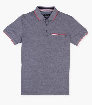 Cotton polo shirt with a pocket.