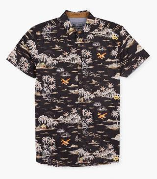 Print cotton shirt.