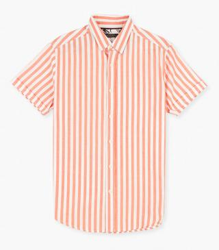 Striped shirt in cotton.