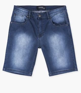 Denim shorts crafted from stretch cotton.