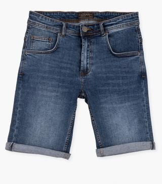 Denim shorts crafted from stretch fabric.