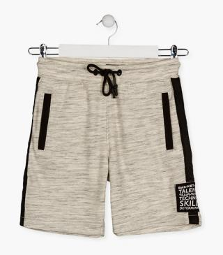 Basketball patch shorts.