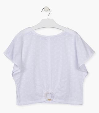Embroidered front t-shirt.