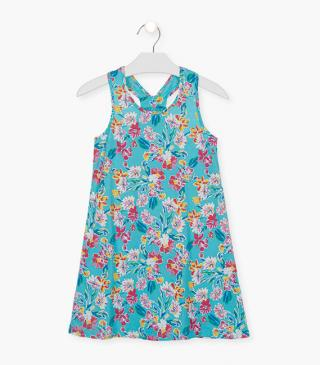 Floral print cotton dress.