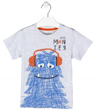 Short-sleeved t-shirt with moving eyes.